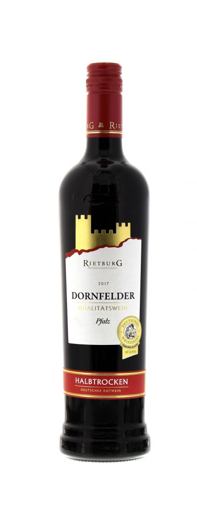 2017, Dornfelder, Rot, Deutschland, Pfalz, Qualitätswein, halbtrocken, Wein