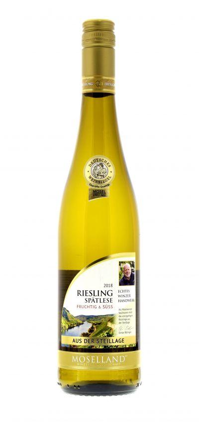 2018, Riesling, Weiß, Deutschland, Mosel, Spätlese, süß, Wein