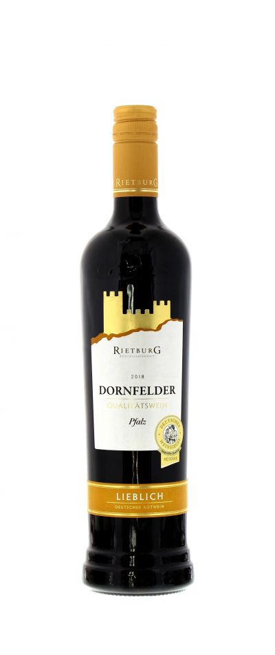 2018, Dornfelder, Rot, Deutschland, Pfalz, Rietburg , Qualitätswein, lieblich, Wein