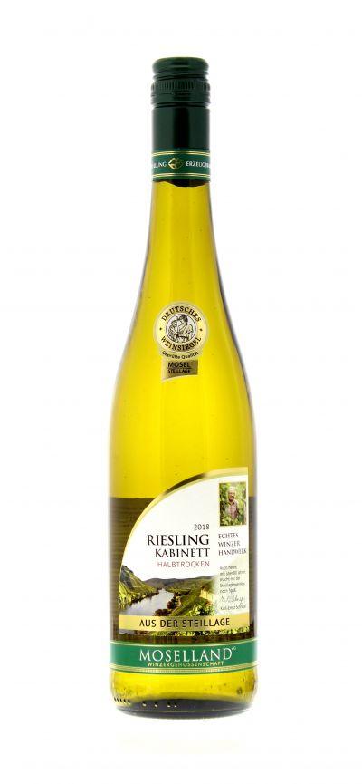 2018, Riesling, Weiß, Deutschland, Mosel, Kabinett, halbtrocken, Wein