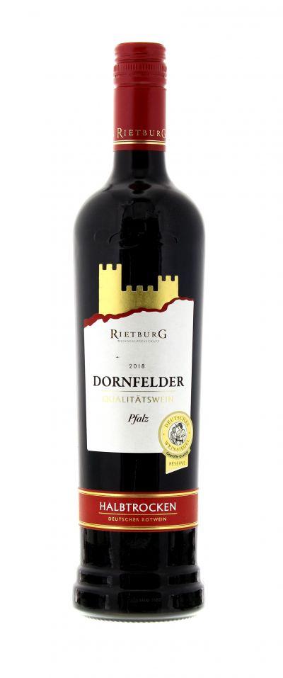 2018, Dornfelder, Rot, Deutschland, Pfalz, Rietburg , Qualitätswein, halbtrocken, Wein