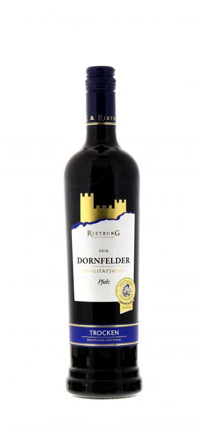 2018, Dornfelder, Rot, Deutschland, Pfalz, Rietburg , Qualitätswein, trocken, Wein
