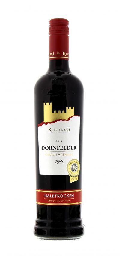 2019, Dornfelder, Rot, Deutschland, Pfalz, Rietburg , Qualitätswein, halbtrocken, Wein