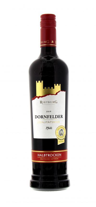 2019, Dornfelder, Rot, Deutschland, Pfalz, Qualitätswein, halbtrocken, Wein