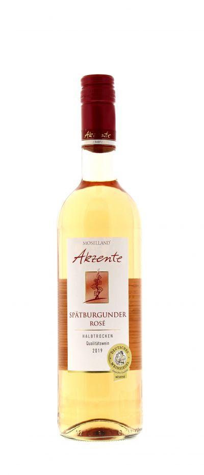 2019, Spätburgunder, Rosé, Deutschland, Mosel, Qualitätswein, halbtrocken, Wein
