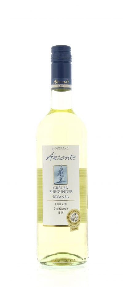 2019, Grauer Burgunder, Rivaner, Weiß, Deutschland, Mosel, Qualitätswein, trocken, Wein