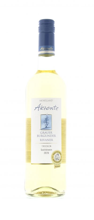2020, Grauer Burgunder, Rivaner, Weiß, Deutschland, Mosel, Qualitätswein, trocken, Wein