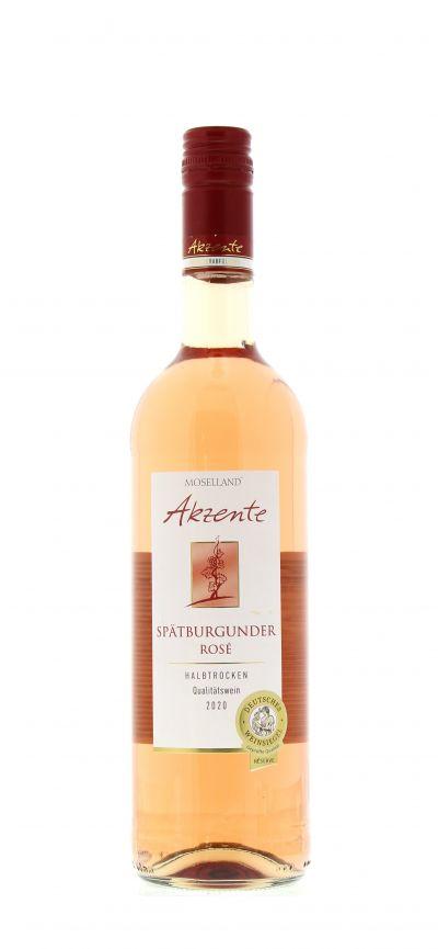 2020, Spätburgunder, Rosé, Deutschland, Mosel, Qualitätswein, halbtrocken, Wein